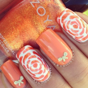 Day 2 – Orange Nails