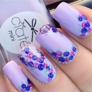 Purple Mini Rose Mani