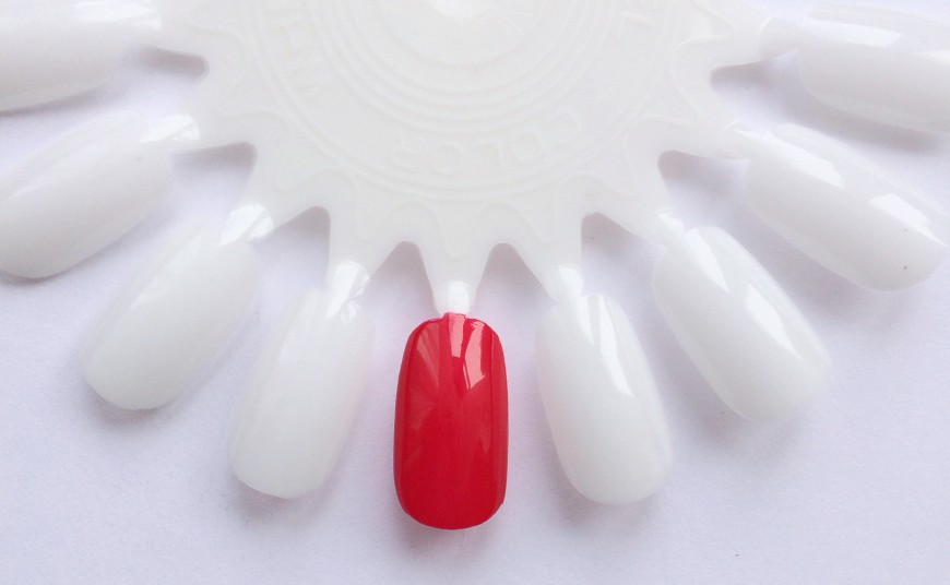 Crabtree & Evelyn red polish swatch