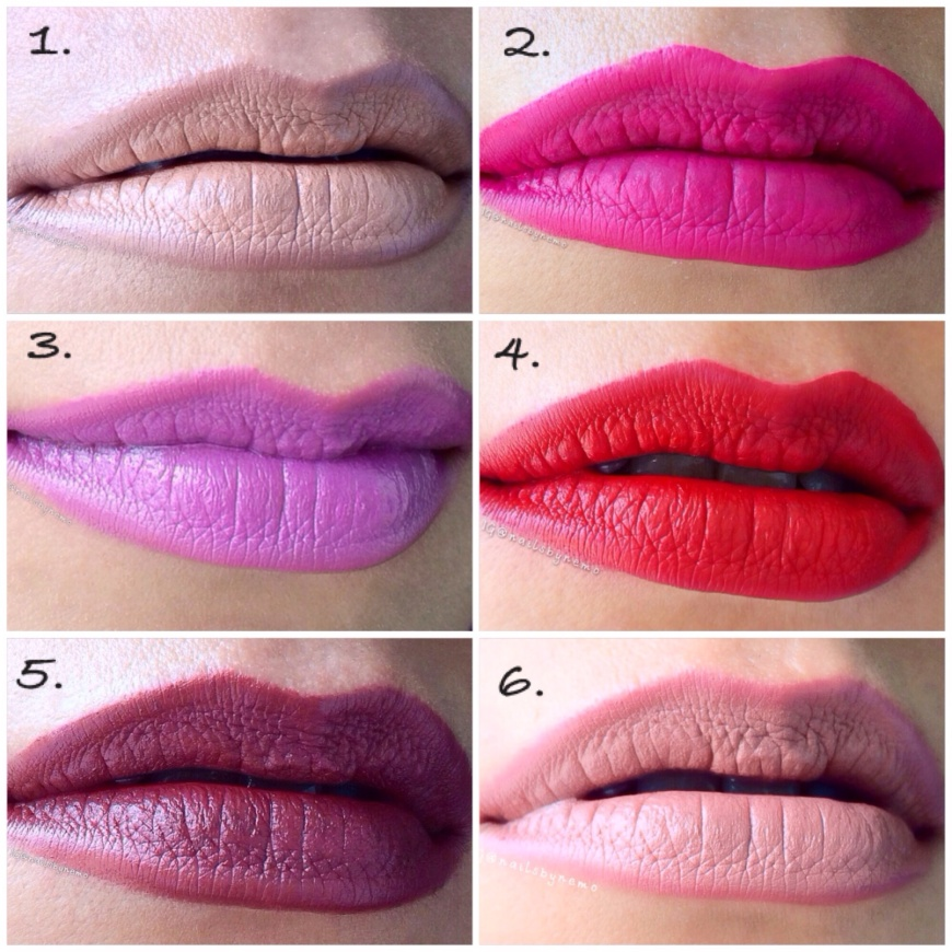 International lipstick day featuring: Illamasqua, like crime, Nicka K New York, and Mac cosmetics.