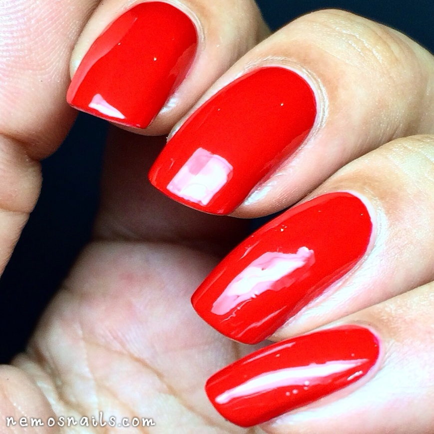 Louboutin Rouge nail polish swatch