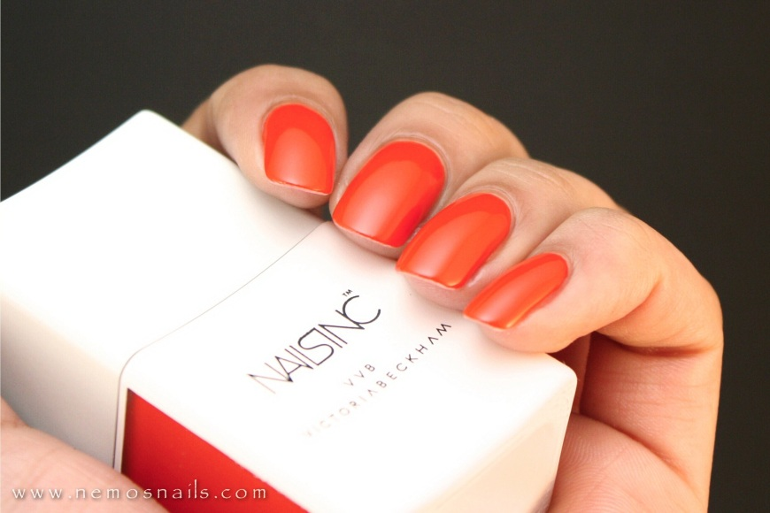 Victoria Beckham x Nails inc. Judo Red Swatch