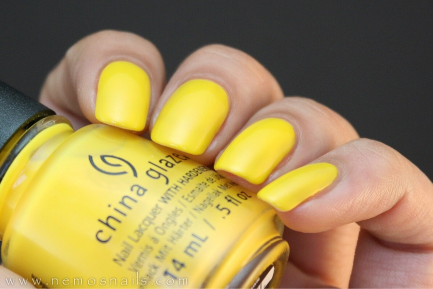 China Glaze Suns Up Top Down Swatch