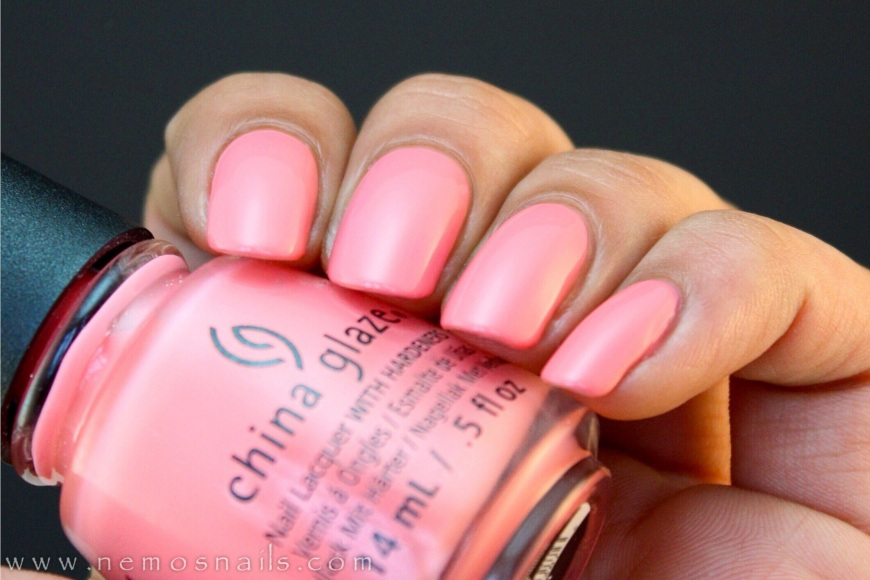 China Glaze Pinking Out the Window Swatch