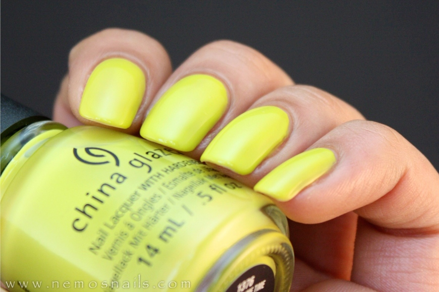 China Glaze Trip of a Lime Time Swatch