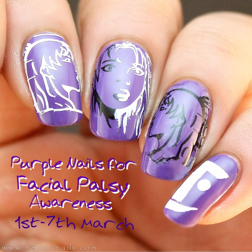 #FaceMyDay Nails for Facial Palsy Awareness week.